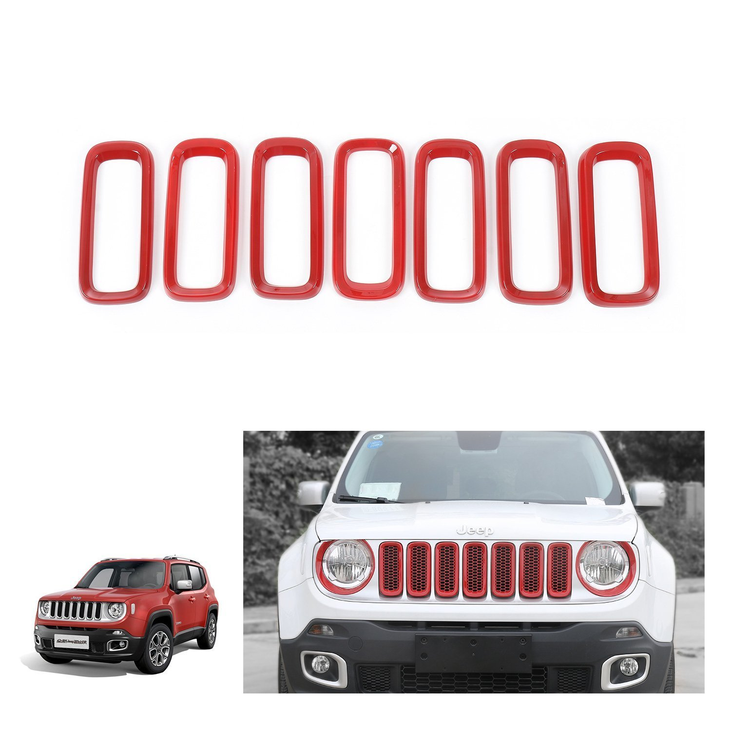 I-shop 7 pcs ABS avant Grill Grille inserts