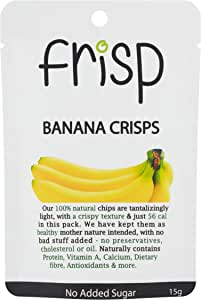 COCO EARTH FRISP Banana Crisps - Gluten Free, Oil-Free, No Sugar Added Real Banana Chips, x