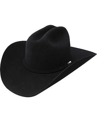 6a709d935ccce Resistol Men s George Strait Cowboy Rides Away Fur Felt Hat Black 6 7 8 at  Amazon Men s Clothing store