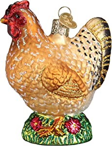 Old World Christmas Spring Chicken Farm Animals Glass Blown Ornaments for Christmas Tree