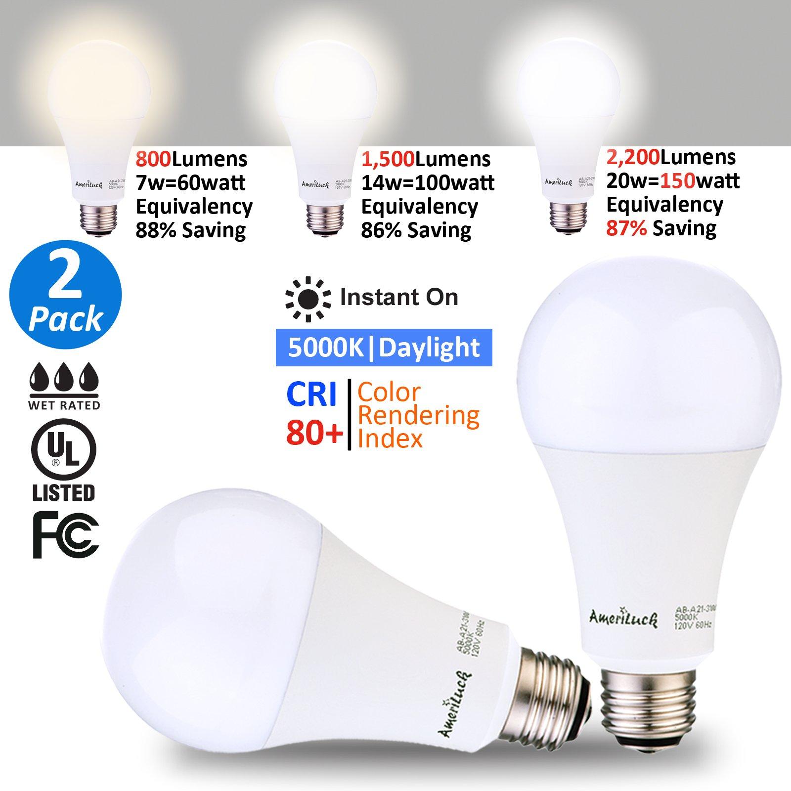 Ameriluck 5000kdaylight 3 Way Led Light Bulb 50100150w Equivalent