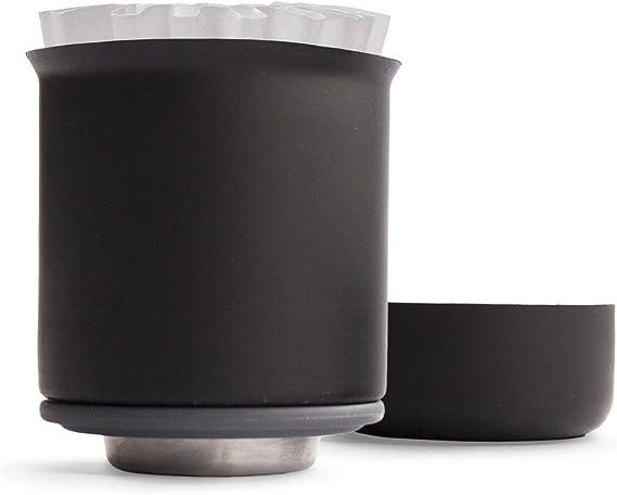 Set Negro mate XF Fellow Juego de preparaci/ón de caf/é Stagg gotero con ayuda de relaci/ón, jarra de vidrio de doble pared stagg y 20 filtros de papel