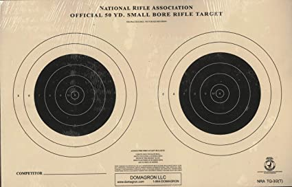 Genuine Issue US Army Small Bore 50 Foot Rifle Range Practice Target 50 Pieces