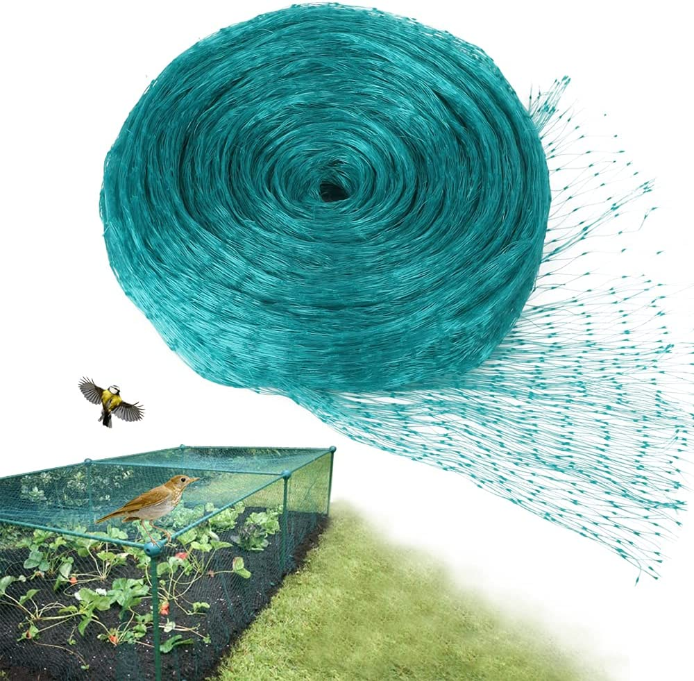 Solution4Patio Expert in Garden Creation #G-B506A00A0-US Bird Netting, Small Square 0.6 in Grid, Protect Seedlings Plants, Flowers, Fruit, Vegetables from Rodents, Birds, Deer, 6.6 ft x 16.4 ft