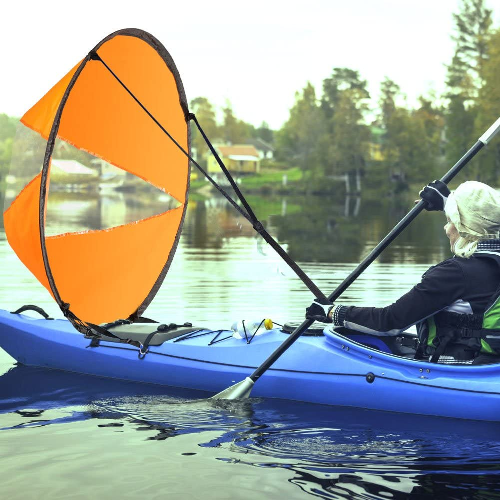 Kayak Canoe Accessories Easy Setup Downwind Paddle Kayak Wind Sail 42/""