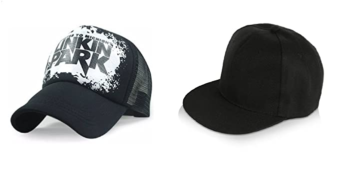 c623afda052 Image Unavailable. Image not available for. Colour  Michelangelo Men s and Women s  Combo Hip Hop Cap and Black Linkin Park Half ...