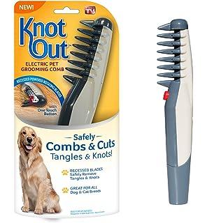 Kicode Eléctrico Peine de peluquería para mascotas Hair Trimmer Knot Herramienta Out Tangles Suministros de pinceles