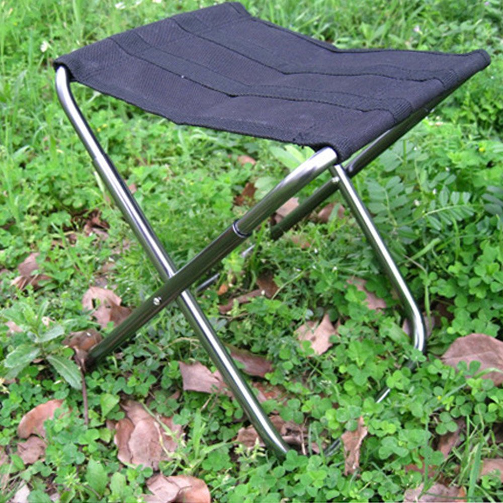 AOTU Outdoor Leisure Aluminum Alloy Folding Stool Black/Green by Dressffe (black)