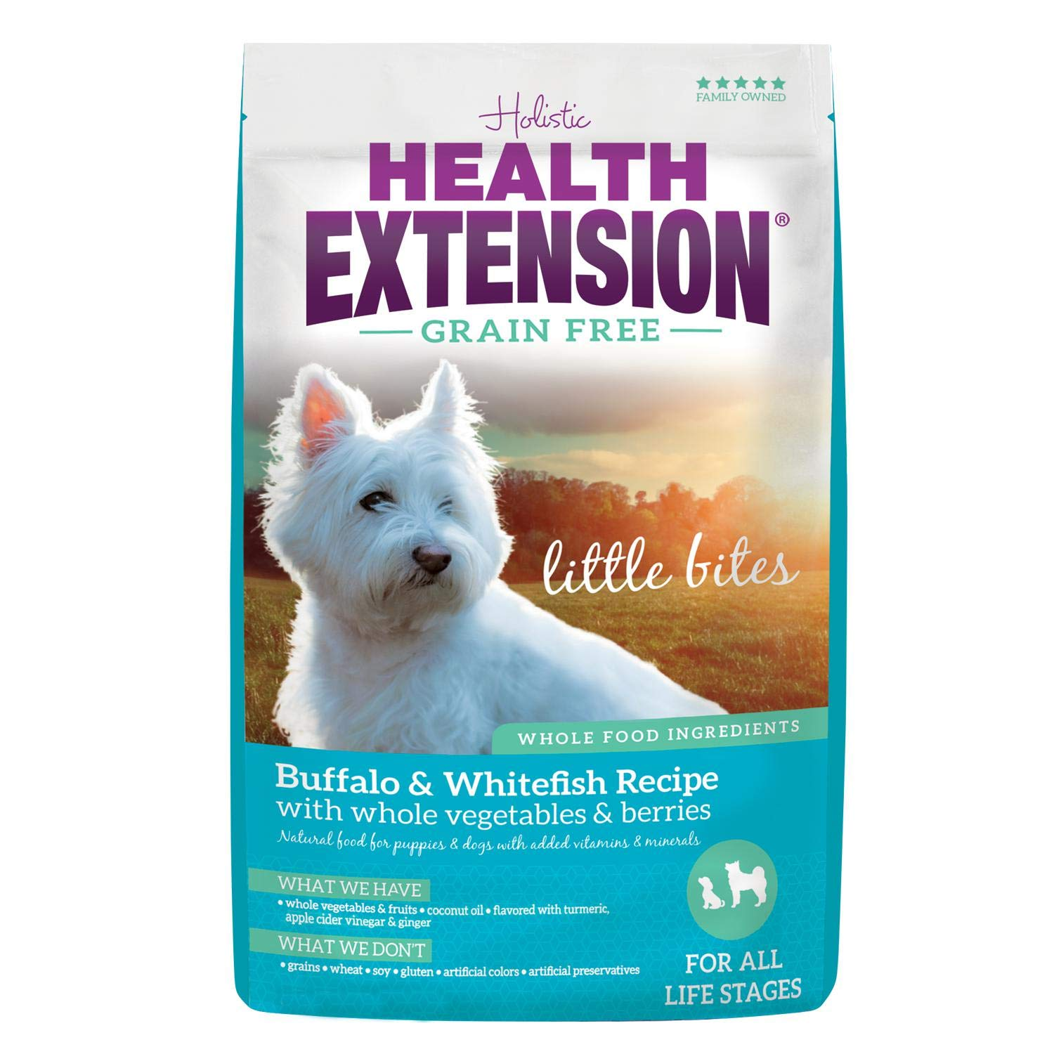 Health Extension Grain Free Buffalo & Whitefish Recipe Little Bites, 4-Pounds by Health Extension