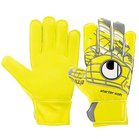 5e77a21c458 Amazon.com : uhlsport ELIMINATOR STARTER SOFT JUNIOR Goalkeeper Gloves Size  6 Yellow : Sports & Outdoors