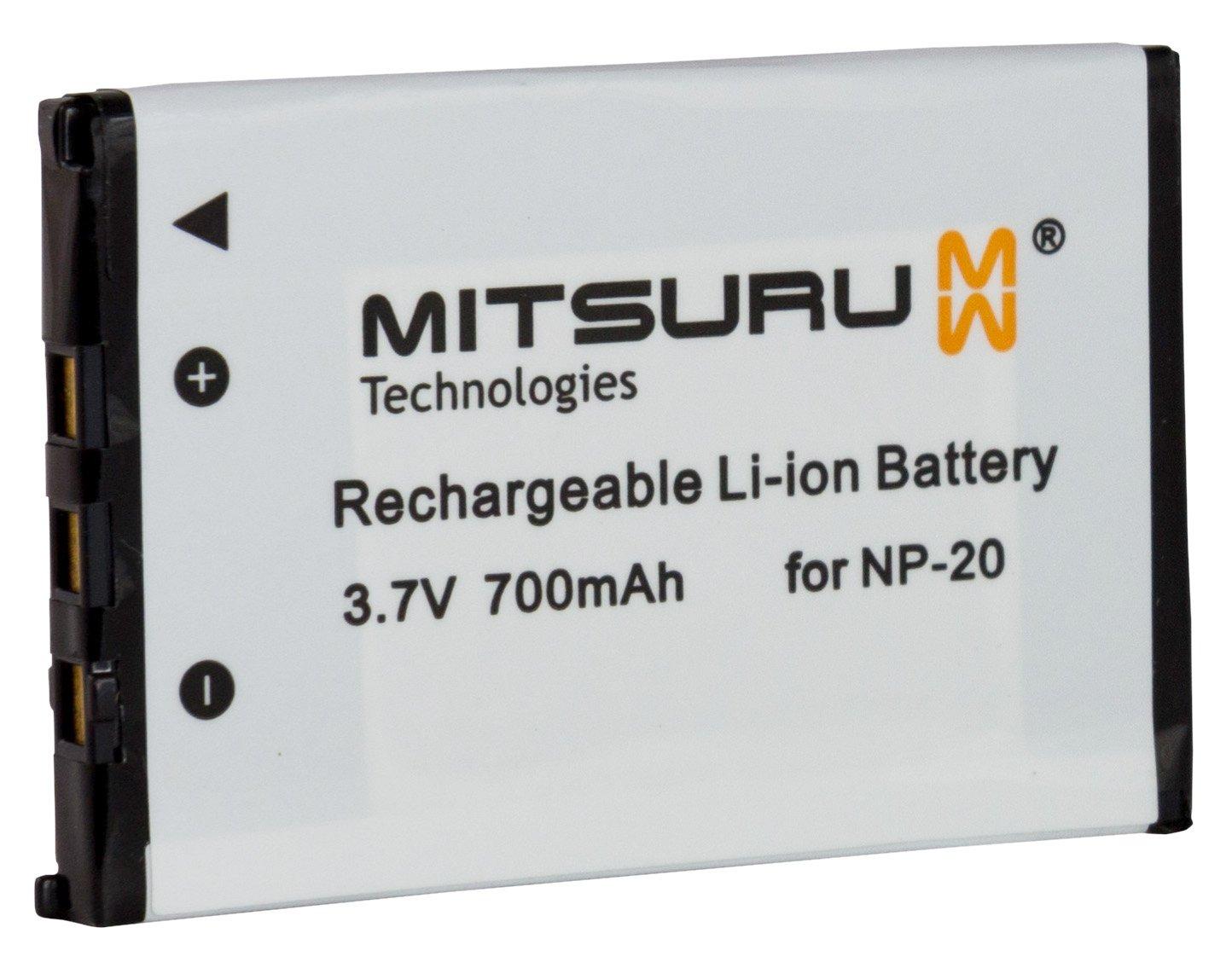 Mitsuru/® Batteria di riserva per Casio Exilim EX-Z77 EX-Z770 EX-Z8 M1 M2 M20 S1 S1PM S2 S20 S23 S3 SX-S770 T-800 T700 T800 T850 X720 X725 X800 Z3 Z4 Z5 adatta a Casio NP-20 NP20