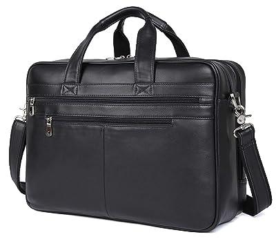 "Polare Soft Leather 17"" Laptop Case Professional Briefcase Business Bag"