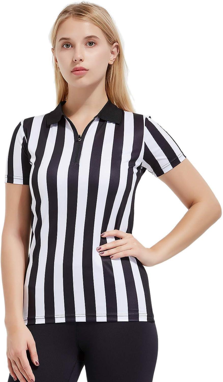 Women's Short Sleeve Zipper Neck Referee Shirt