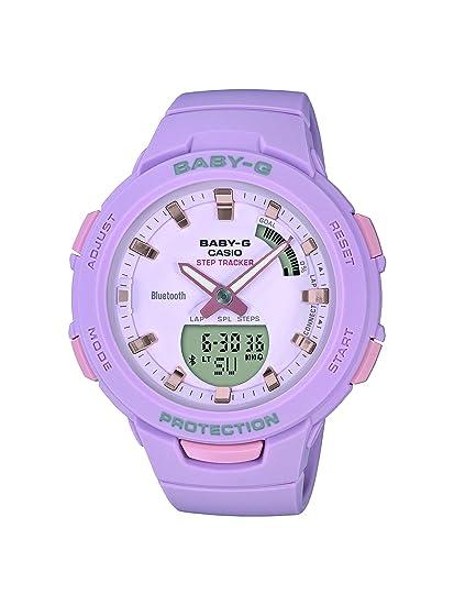 Casio Reloj Analógico-Digital para Mujer de Cuarzo con Correa en Resina BSA-B100-4A2ER: Amazon.es: Relojes