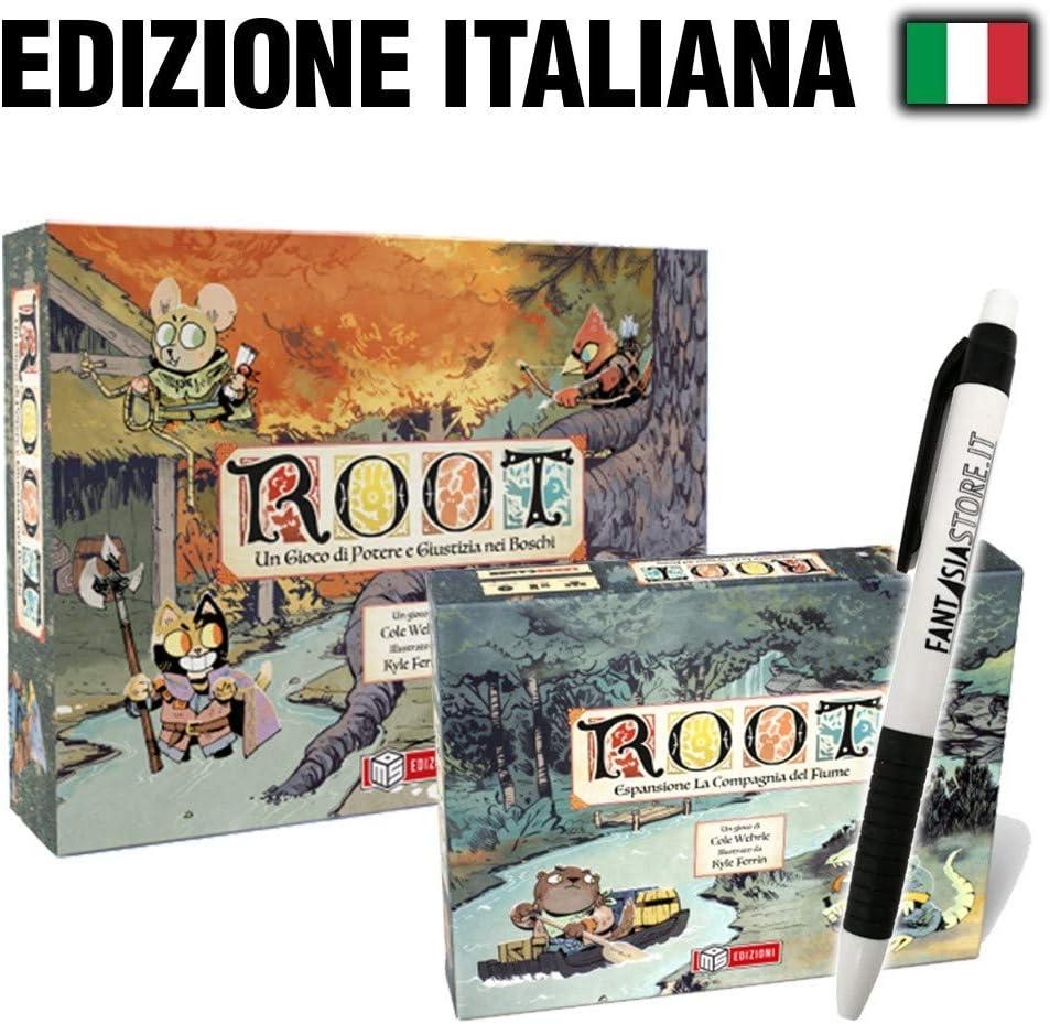 Fantàsia Root Bundle - Root Gioco Base, La Compagnia del Fiume + Penna: Amazon.es: Juguetes y juegos