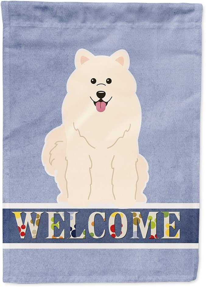 Caroline's Treasures BB5611GF Samoyed Welcome Flag Garden Size, Small, Multicolor