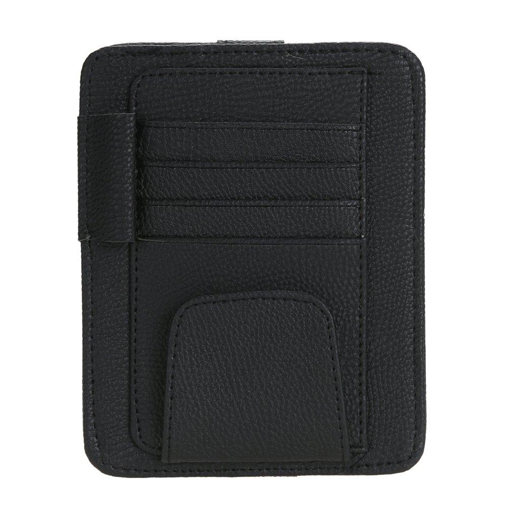 Black Multi-purpose Car Visor Storage Board for Card Sunglasses Pen WinnerEco Car Sun Visor Organizer