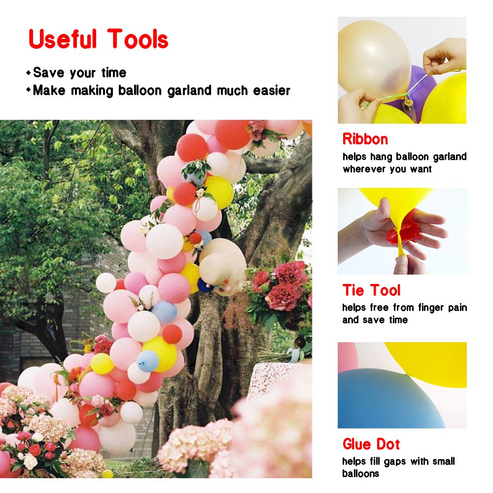 Amazon.com: Kit de globos para fiestas, guirnalda de globos ...
