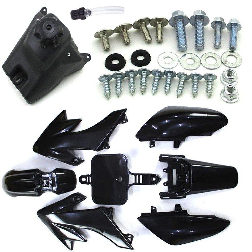 Race-Guy Black Plastic Fairing Fender Kits Screws Fuel Tank Vent Valve For Honda Dirt XR50 CRF50 Chinese Pit Bike SSR Lifan BSE Kayo YCF
