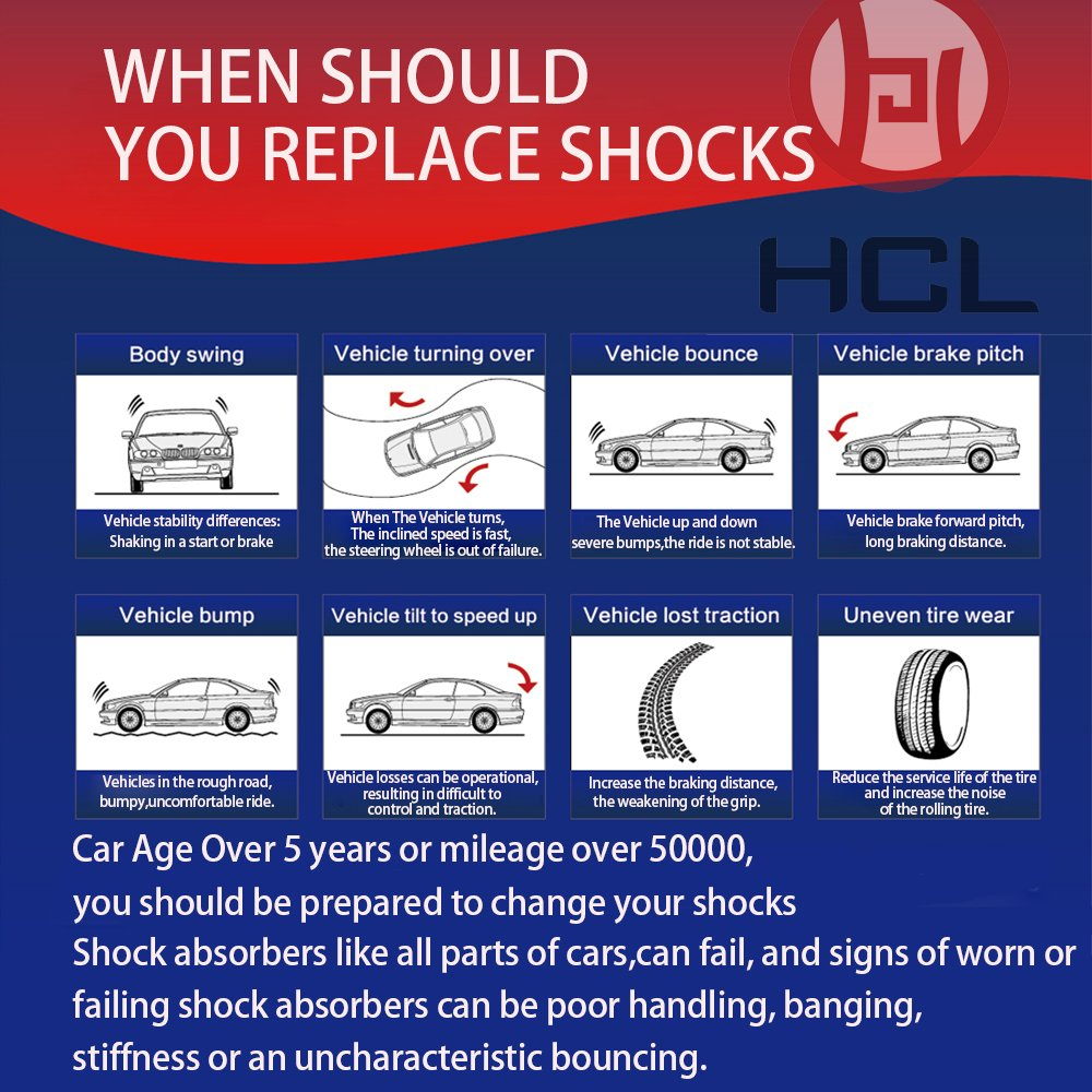 Pack of 4 Full Set Shock Strut for Nissan Maxima 2000-2003 Infiniti I35 02-04 Shock Absorber 334366 334367 341341 71461 71462 71327 YULIN