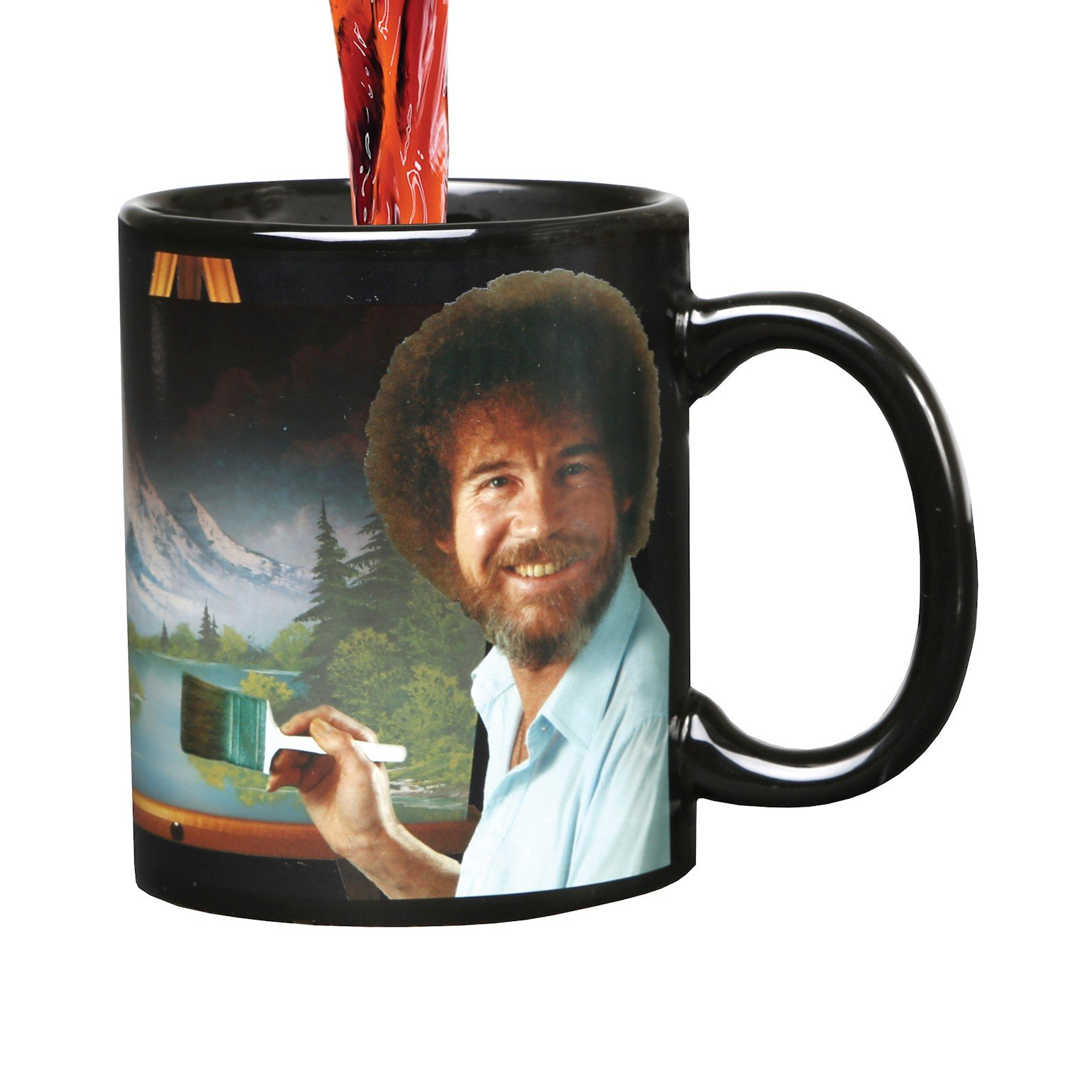 WHAT ON EARTH Bob Ross Heat Changing Mug - Ceramic 11 oz - See Painting Color Hot Liquids by WHAT ON EARTH (Image #3)