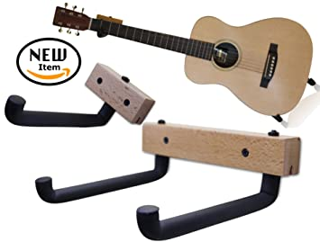 horizontal guitar wall hanger tilt and display your acoustic guitar bass electric guitar