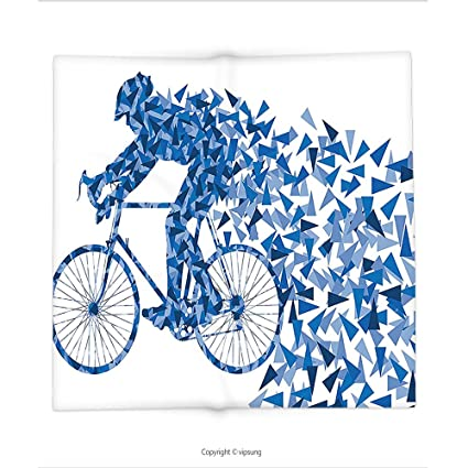 Amazon Custom Printed Throw Blanket With Bicycle Decor Artistic Stunning Bicycle Throw Blanket