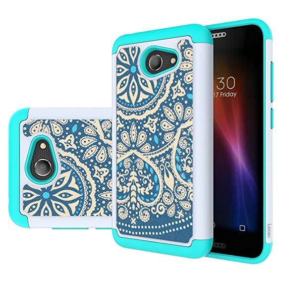 huge selection of 97b6c 0f16b Alcatel A30 Phone Case, Alcatel Kora Case, Alcatel Zip LTE Case,LEEGU  [Shock Absorption] Dual Layer Heavy Duty Protective Silicone Plastic Cover  ...