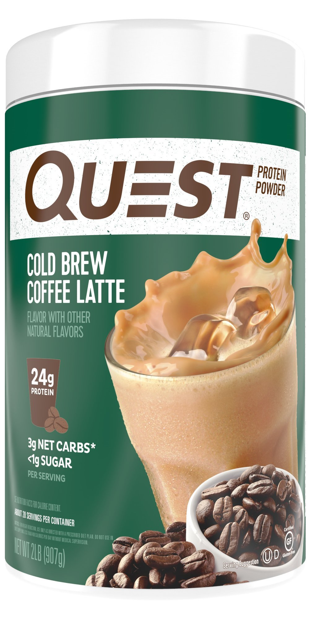 Quest Nutrition Protein Cold Brew Coffee Latte Powder, 32 Ounce