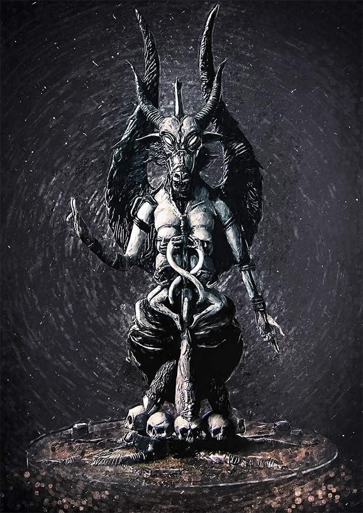 Amazon Com Zapista Baphomet Illustration Fine Art Print Lucifer Satan Unique Artwork Poster Home Wall Decor Unframed 8 50 X 12 Posters Prints