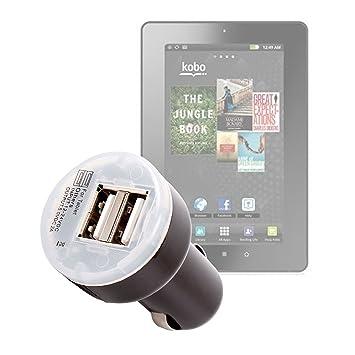 Cargador rápido de doble toma USB Práctico (2 Amp) para Tablet táctil Kobo by