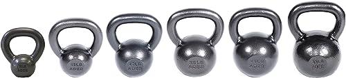 Ader Premier Kettlebell Set 5, 15, 25, 35, 45, 55 Lbs w DVD Gym Chalk Ball