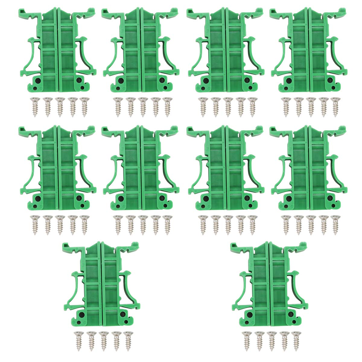 NIANNIAN PCB DIN Rail Mounting Adaptateur Circuit Board Holder Carrier Clips 35 mm