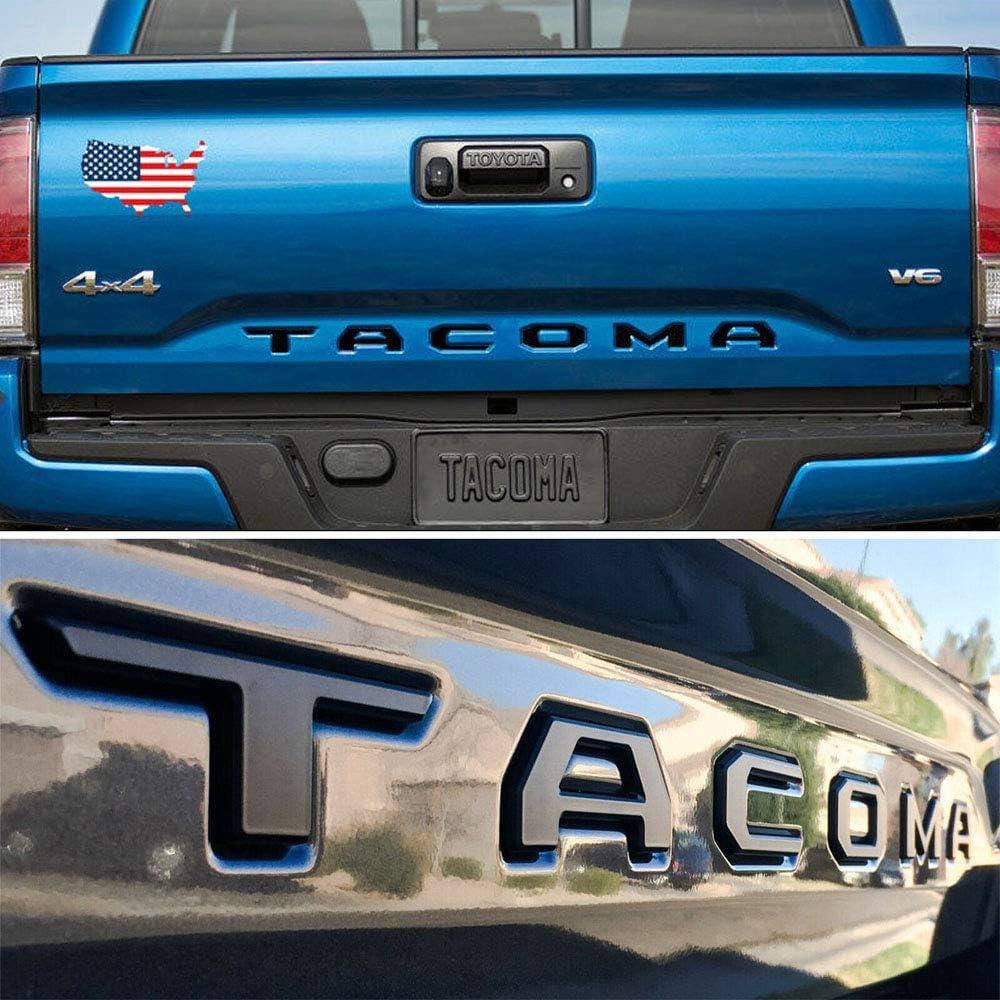 Tailgate Insert Letters fits 2016-2020 Toyota Tacoma Matte Black