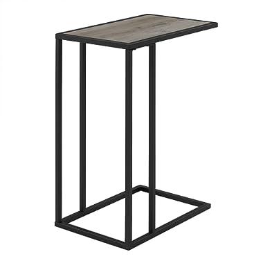 WE Furniture AZF20SCSTGW Side Table, 20 , Grey Wash/Black