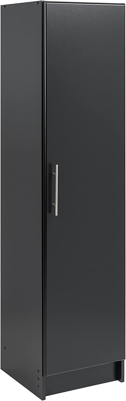 "Prepac Elite 16"" Narrow Cabinet, 16"" W x 65"" H x 16"" D, Black"