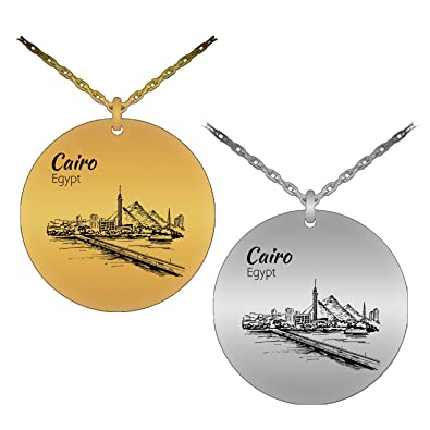 Unique patriotic cairo egypt laser engraved pendant necklace unique patriotic cairo egypt laser engraved pendant necklace stainless steel version aloadofball Gallery