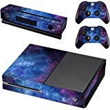 UUShop Protective Vinyl Skin Decal Cover for Microsoft Xbox One Console wrap Sticker Skins with Two Free Wireless Controller