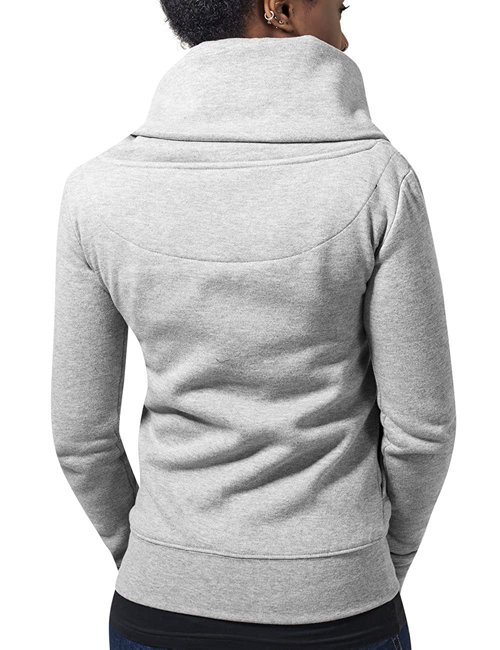 Asymetric Sweat Et Zip Shirt Ladies Accessoires Jacket Femme Vêtements Urban Classics SpaWwq1H