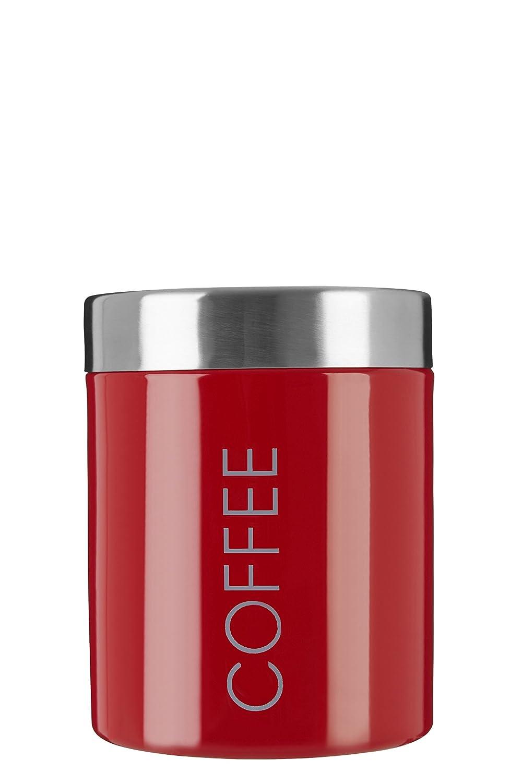 Premier Housewares Bote para guardar café, acero inoxidable esmaltado, color negro 0508676