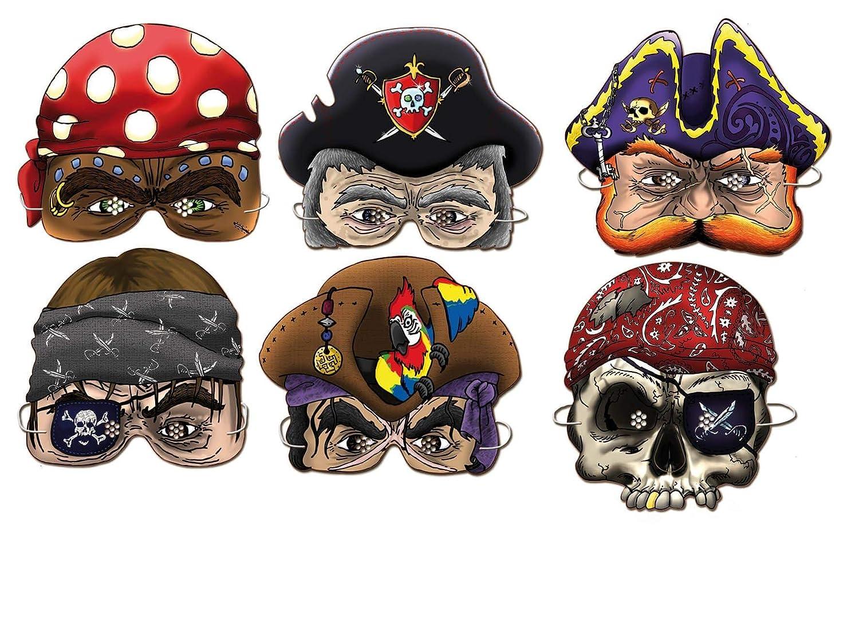 Pirates Masks 6 unités
