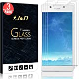 [3-Pack] Xperia L1 Screen Protector, J&D Glass Screen Protector [Tempered Glass] HD Clear Ballistic Glass Screen Protector for Sony Xperia L1 - Protect Screen from Drop and Scratch