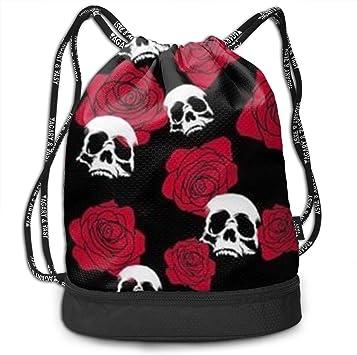 HUOPR5Q Flower Drawstring Backpack Sport Gym Sack Shoulder Bulk Bag Dance Bag for School Travel