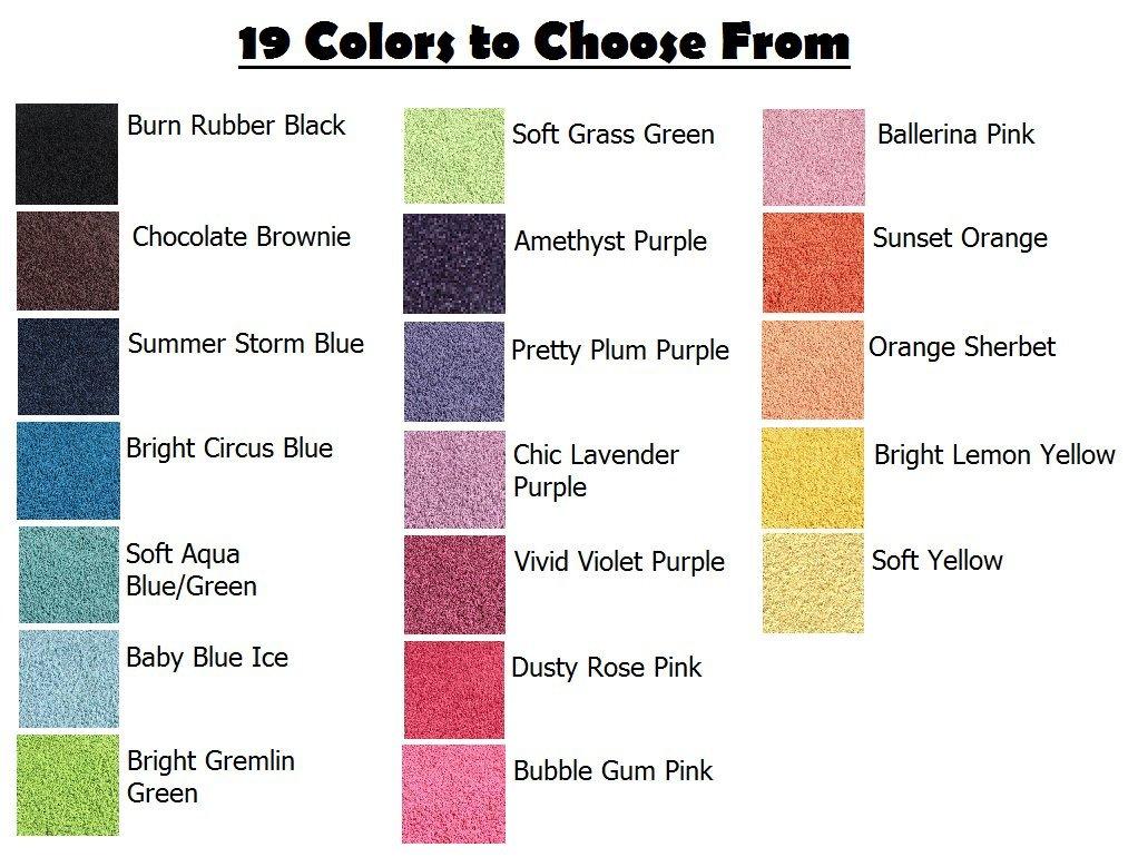 Ballerina Pink - 6' ROUND Custom Carpet Area Rug by Children's Choice