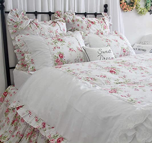 Amazon Com Girls Bedding Set Romantic Floral Duvet Cover Bed Sets