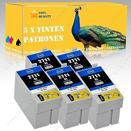 5 Cartuchos de Tinta Negra compatible con Epson WorkForce: 3620 ...