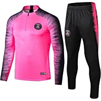 Weqenqing Paris sportkleding met lange mouwen, trainingspak voetbal, jersey met volledige ritssluiting, ademend…