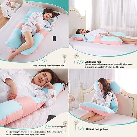 Almohadas de maternidad embarazadas Almohada para dormir en forma de U multifuncional en forma de U