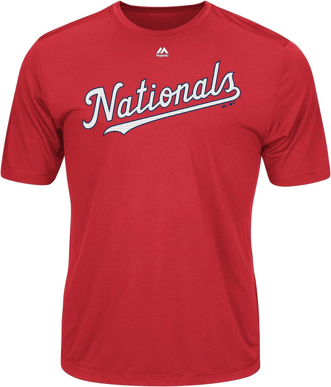 Majestic Youth Cool Base MLB Evolution Shirt Washington Nationals Large : Clothing