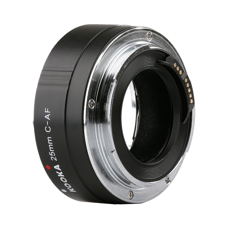 Kooka KK-C25 Extension Tube Kit for Canon 25 mm Black